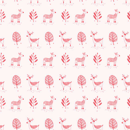 Deer with trees background design