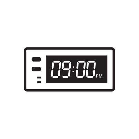 デジタル時計のアイコン  イラスト・ベクター素材