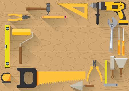 spirit level: Carpenter workspace