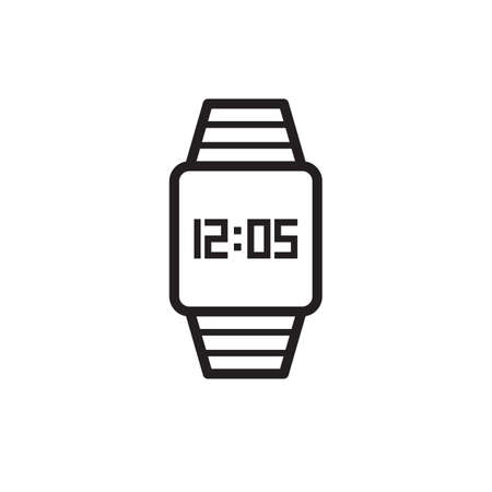 Digital watch icon Çizim