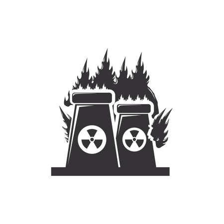 nuclear plant 向量圖像