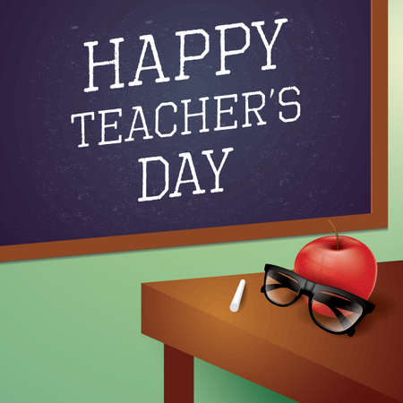 Happy teachers day design Illustration