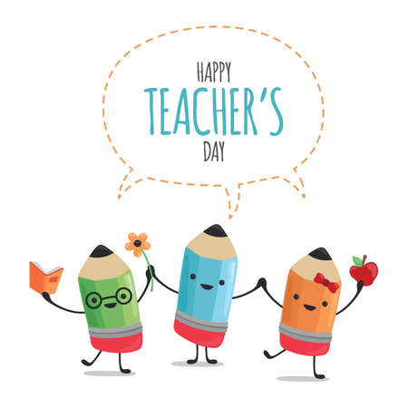 Happy teachers day design Ilustracja
