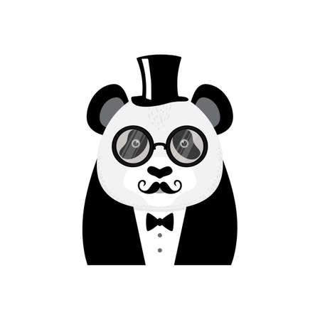 Panda karakter Stock Illustratie