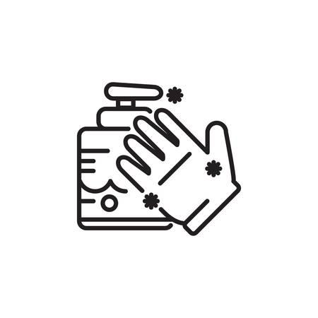 Wasmiddel met de hand Stock Illustratie