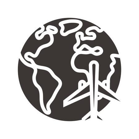 wereldwijd reizend concept Stock Illustratie
