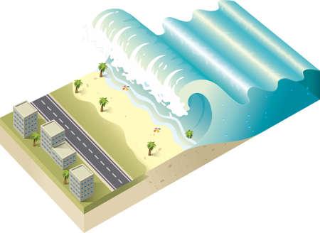 tsunami Vettoriali