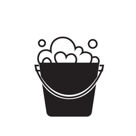 bucket of water Ilustração