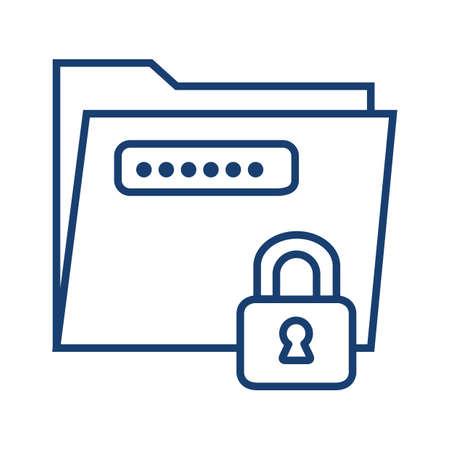 Document beveiligingsconcept Stock Illustratie