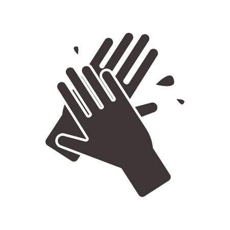 手袋を洗浄  イラスト・ベクター素材