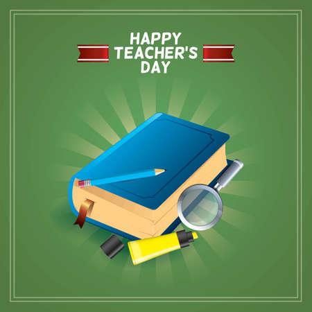 Happy teachers day design Ilustrace