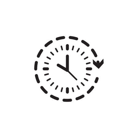 Clock with arrow