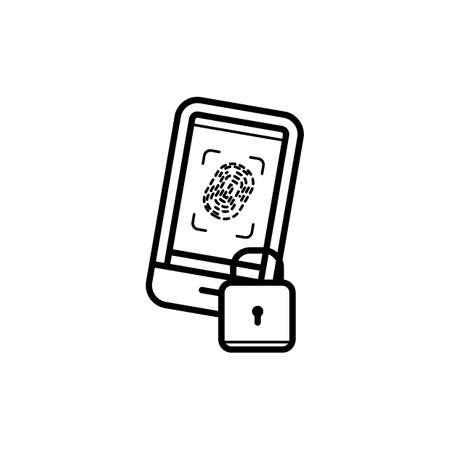 Mobile security concept Ilustrace