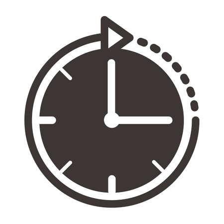 clockwise: clockwise clock Illustration