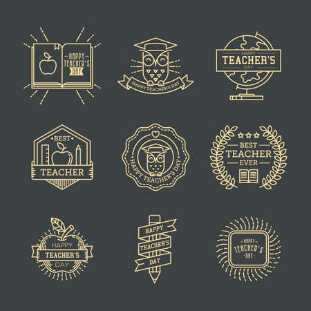 set of teachers day icons