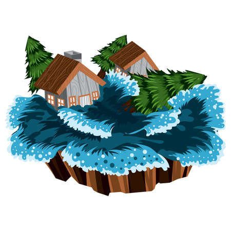 overstroming Stock Illustratie