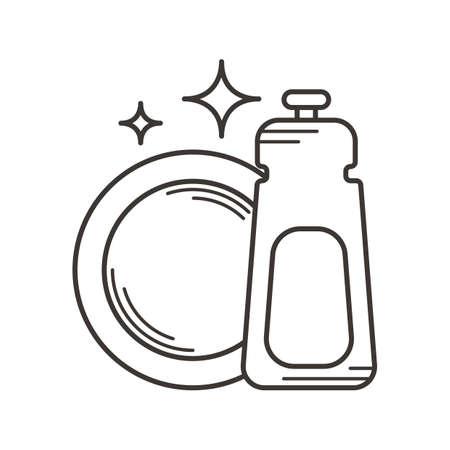 Afwasmiddel en plaat