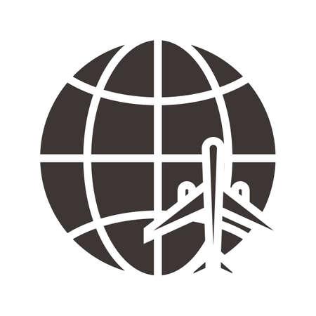 Wereldwijd reizend concept