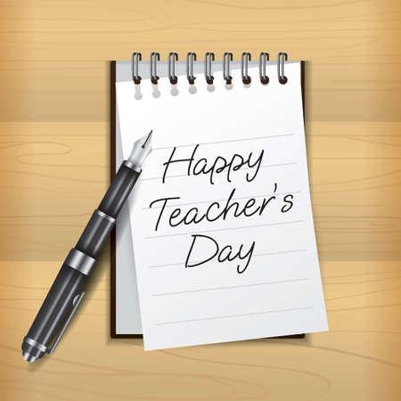 Happy teachers day design Ilustracja