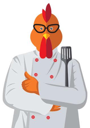Rooster character 版權商用圖片 - 77300231