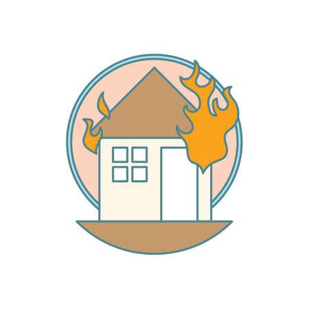 火の家 写真素材 - 77300544