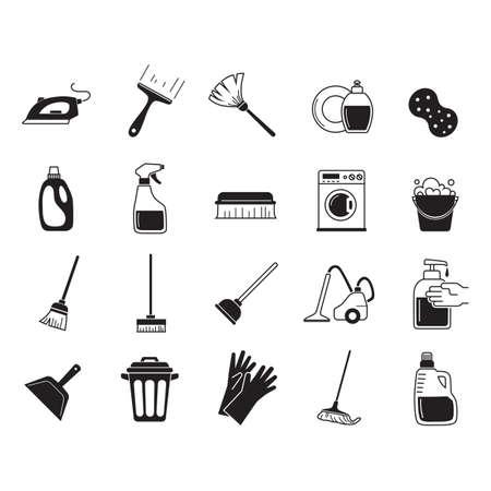 Inzameling van schoonmaakmiddelen Stockfoto - 77253840