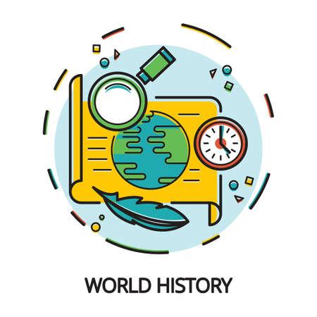 world history concept design Illustration