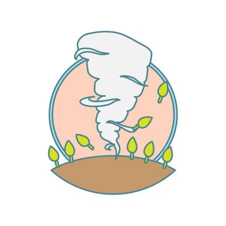 destructive: tornado Illustration