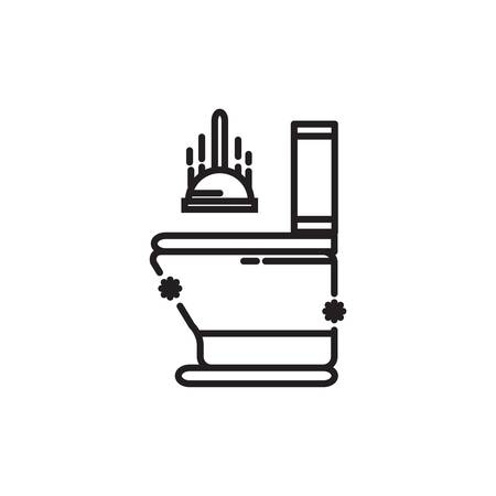 plunger and toilet bowl