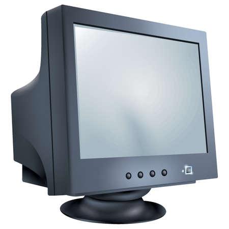 computerscherm Stock Illustratie