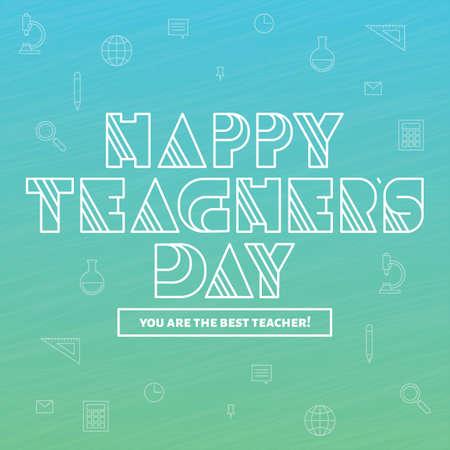 Happy teachers day design Illustration