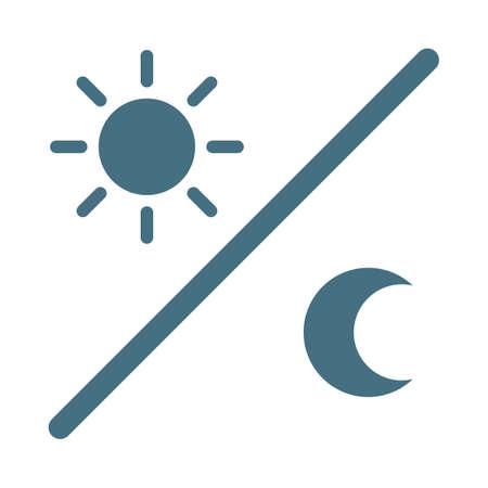 昼と夜の概念  イラスト・ベクター素材