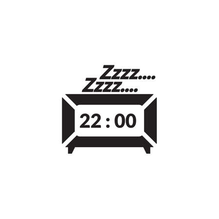 snoozing clock Illustration