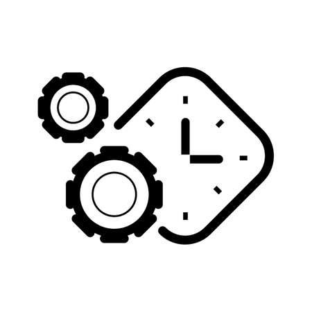 cogwheels with clock