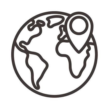 global navigation concept Vektorové ilustrace