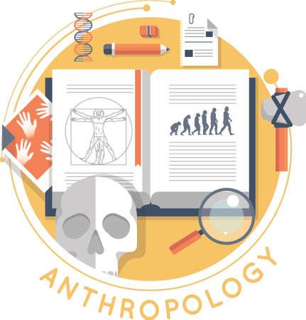 antropologie ontwerp Stock Illustratie