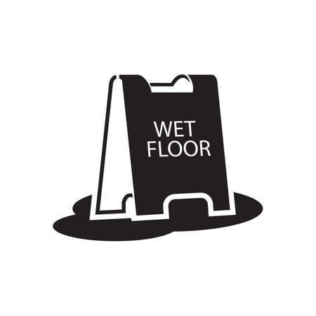 wet floor stand Illustration