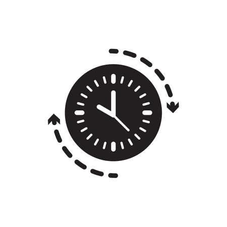 clock with arrow Stock Vector - 77322648