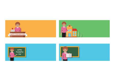 set of teachers day icons