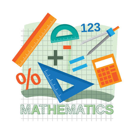 mathematics concept design Illustration