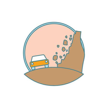erosion: landslide Illustration