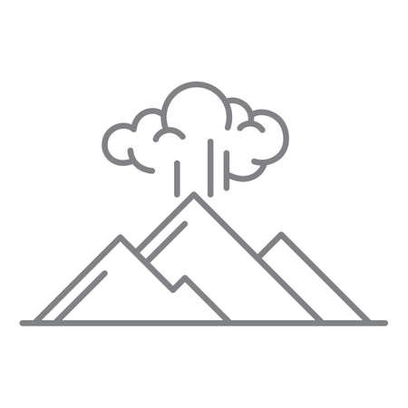 volcanic eruption Иллюстрация