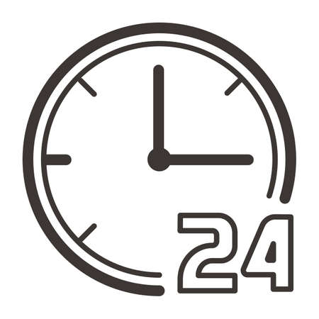 clock with 24 hour icon