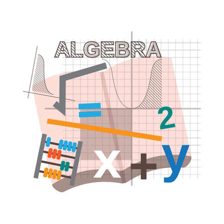 algebra concept design Illustration