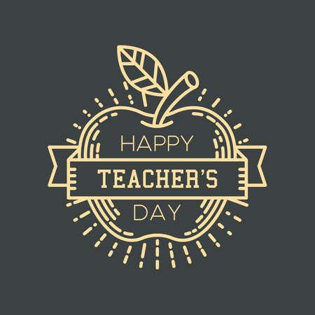 Gelukkig docentdag ontwerp