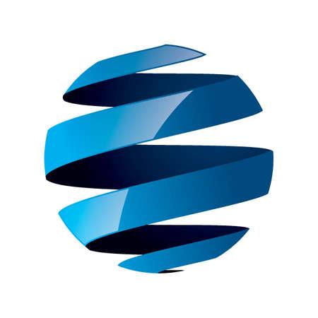 グローブのロゴの要素設計  イラスト・ベクター素材