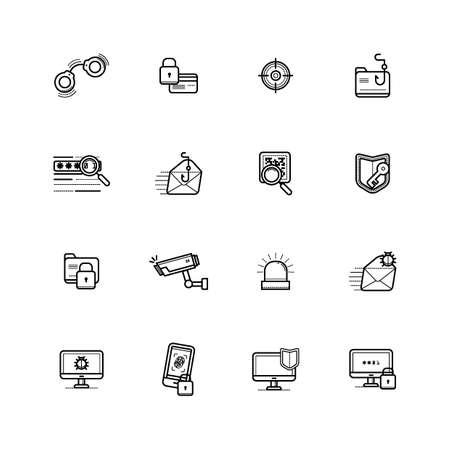 set of crime icons Banco de Imagens - 77322887