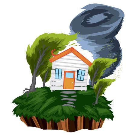 tornado Ilustrace