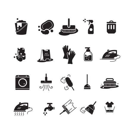Sammlung von Reinigungs-Icons Standard-Bild - 77322885