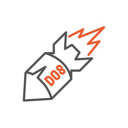 クラッシュしたディスク オペレーティング システム概念  イラスト・ベクター素材